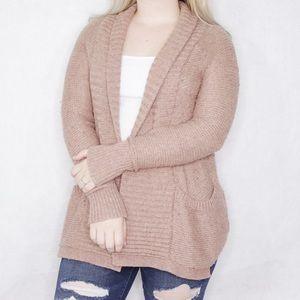 Gap mauve pink cardigan